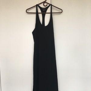 Trouve Black Tank Midi Dress